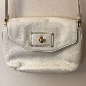 Marc Jacobs White Small Crossbody Hobo Purse Bag